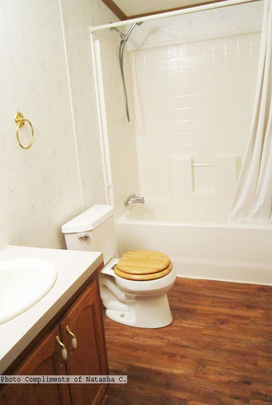 Vineyard Plank Vinyl Flooring In The Bathroom Photo