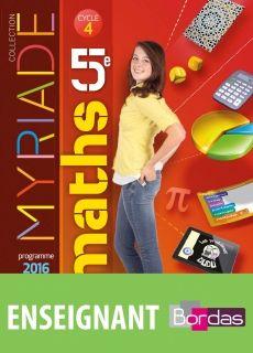 Myriade Maths 5e Manuel 2016 Math Good Books Ebook