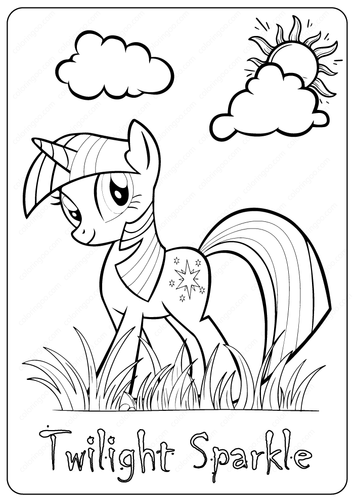 My Little Pony Twilight Sparkle Coloring Pages My Little Pony Twilight My Little Pony Coloring Unicorn Coloring Pages