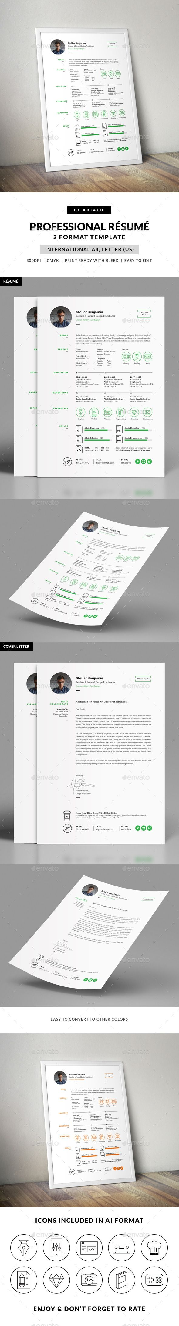 stellar resume cv template available for purchase on
