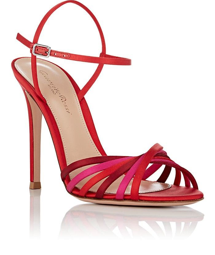 eabeaddff05d9 Gianvito Rossi Dalida Satin Sandals - 7.5 Red | SHOES | Shoes ...