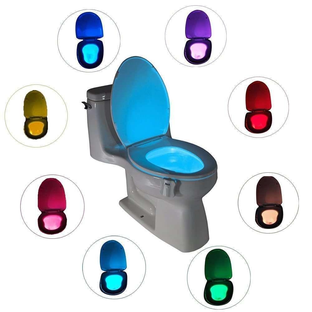 Led Bathroom Lights Ebay led toilet nightlight motion activated 8 colors light sensor