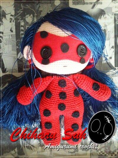 Amigurumi doll in ladybug costume | Crochet doll pattern, Crochet ... | 534x400