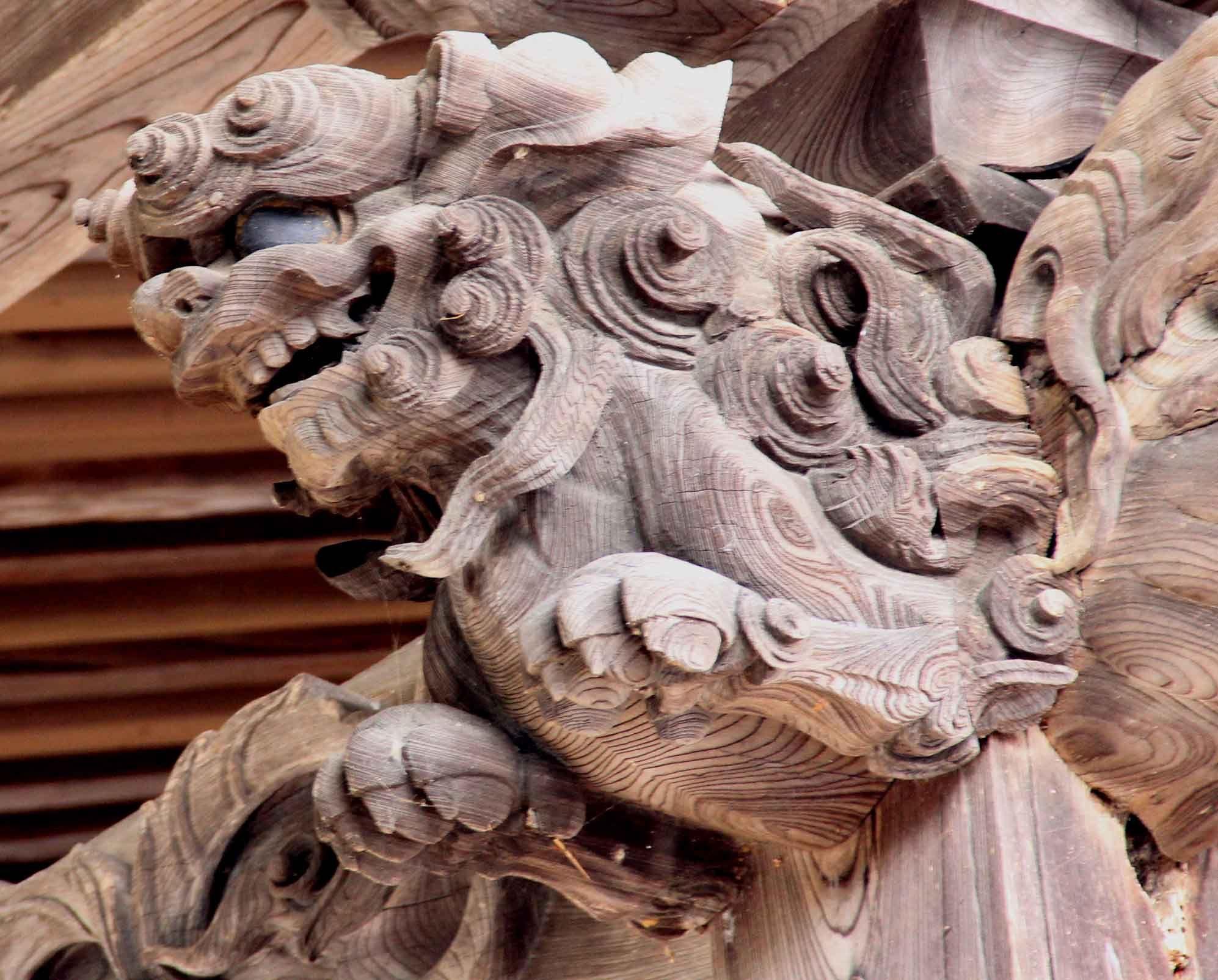 寺社の装飾彫刻 - Google 検索   鬼瓦   Pinterest   Pai and Dragons