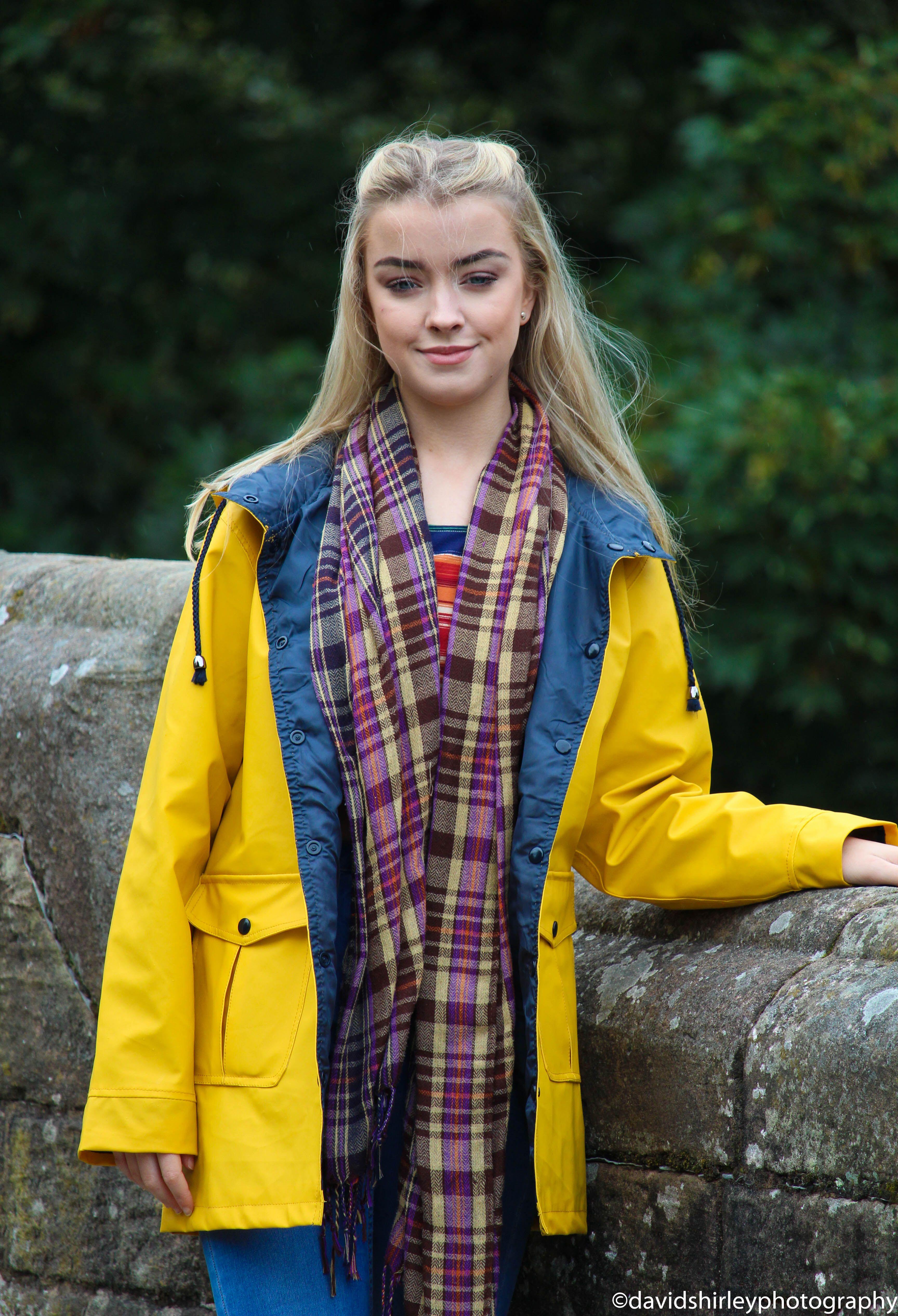 Pin Jan Sandberg Sade Yellow Raincoat
