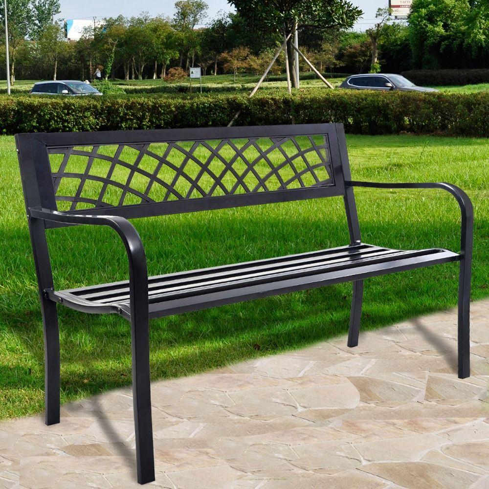 Only US $89.99 Goplus RU Modern Garden Bench durable high quality ...