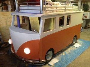 Etagenbett Bussy Aufbauanleitung : Diy bulli hoch bett schritt für anleitung kinder
