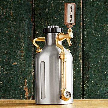 w/ Walnut Tap Handle - Pressurized Craft Beer Growler -   19 crafts beer growler ideas
