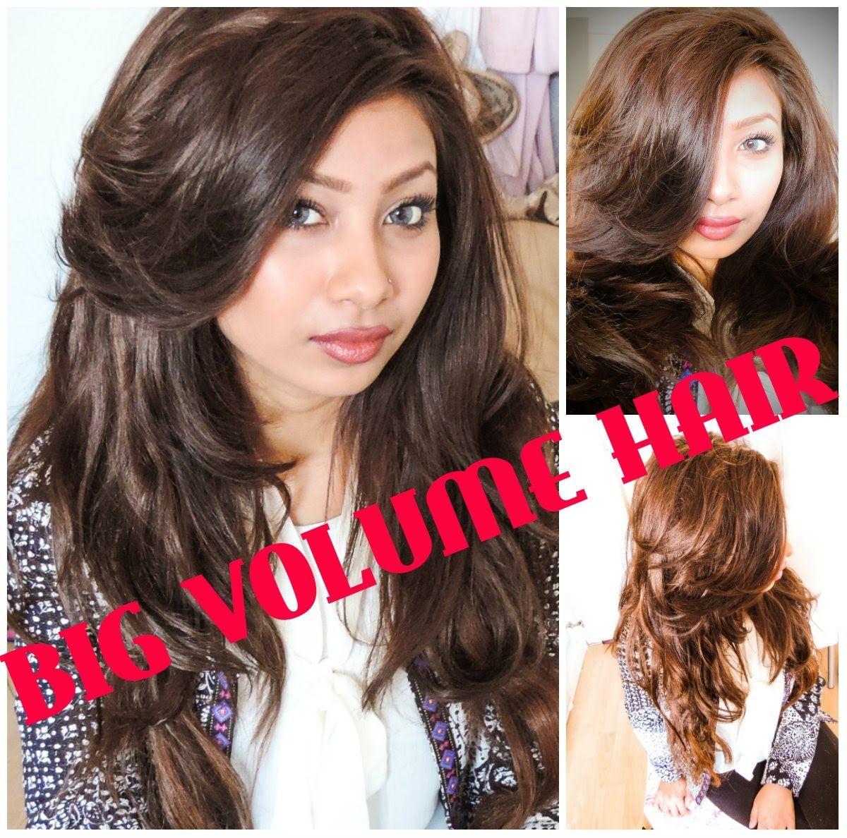 Big voluminous valentines hair with sleep in rollers tutorial