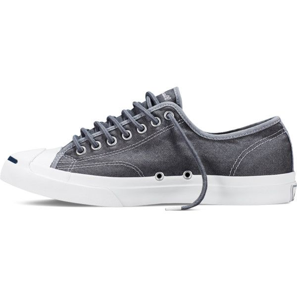 47c05778a92b Converse Jack Purcell Wool Canvas – grey Sneakers ( 50) ❤ liked on Polyvore  featuring shoes