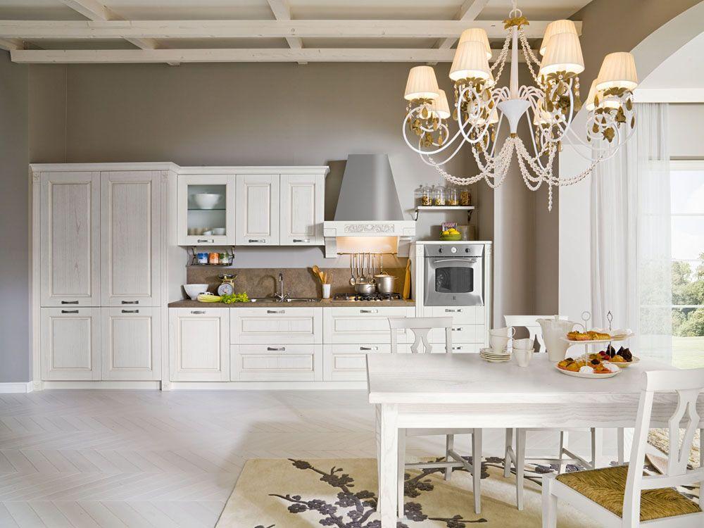 Cucina classica bianca | Cucine, Arredamento e Cucine piccole