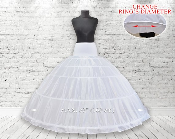 0c001a7bede1 5 Hoops Petticoat Crinoline, hoop skirt, wedding accessories, Underskirt  for Ball Gown Wedding Dress