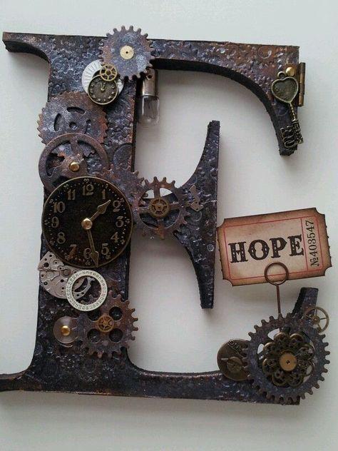 letras  decoradas steampunk