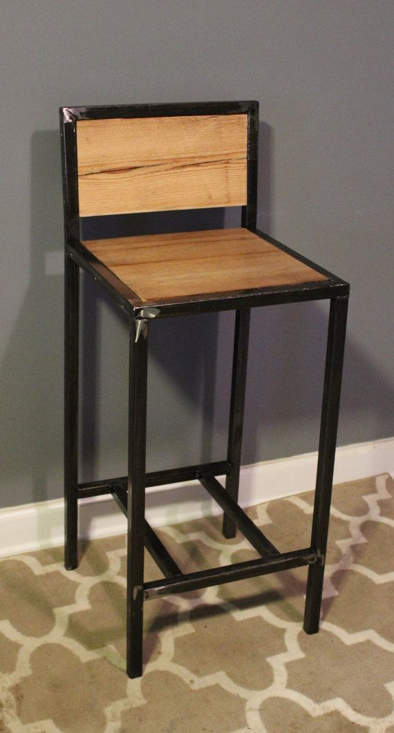 Kitchen Breakfast Counter Rustic Industrial Bar Stool Made