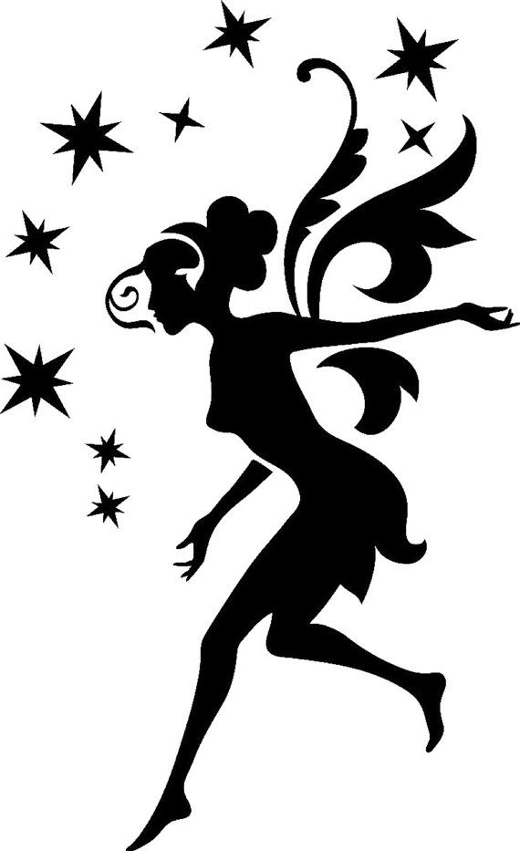 Dancing Fairy Wall Painting Furniture Stencil By Jennastencils