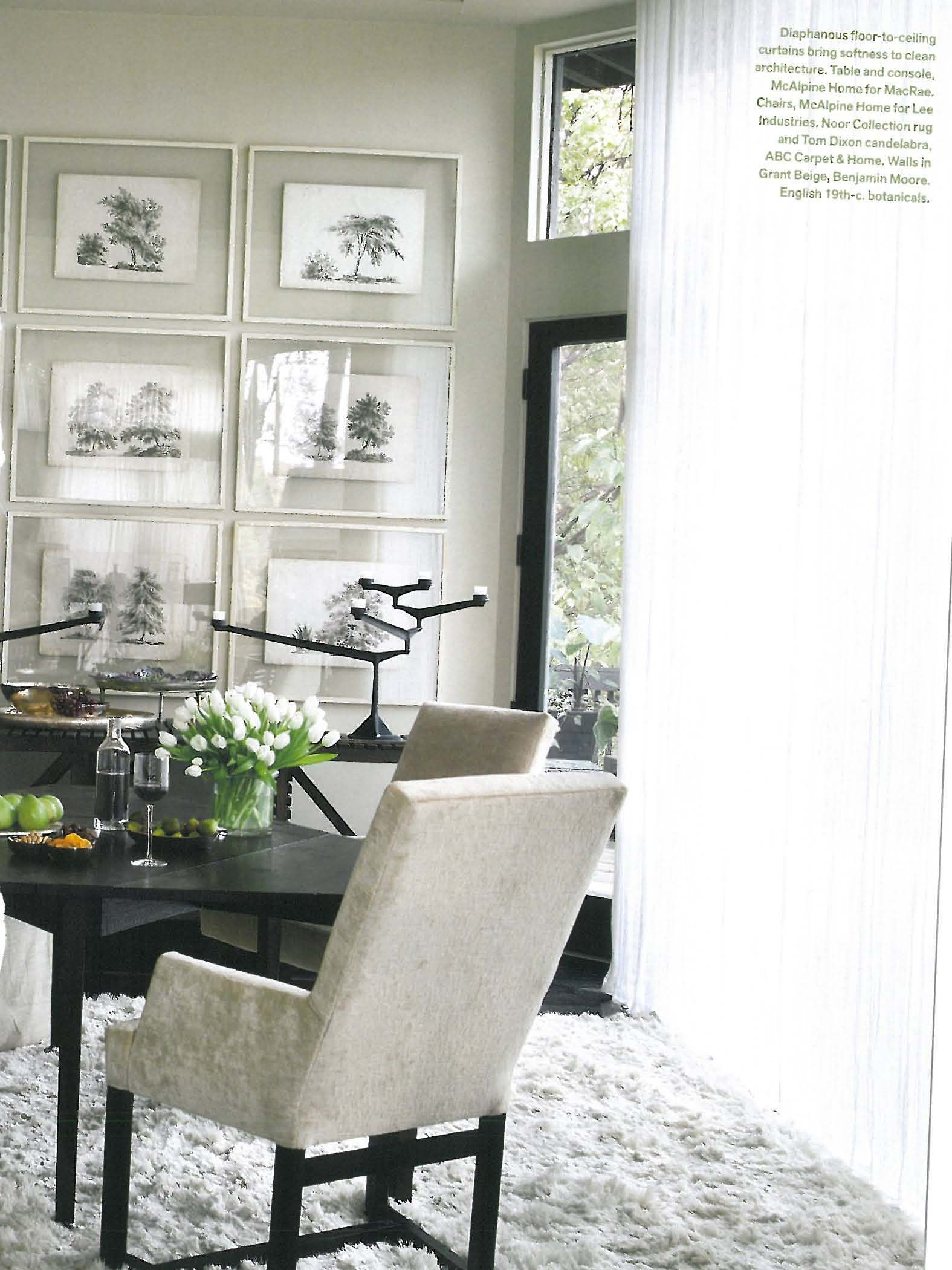 great, simple framing idea! (seen in Veranda magazine)   Frames ...