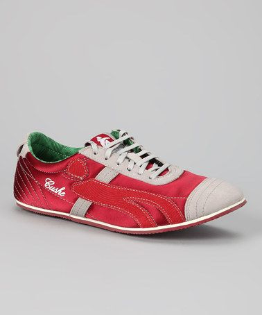 Take a look at this Red Vinyl Sleeve Sneaker - Women by Cushe on #zulily