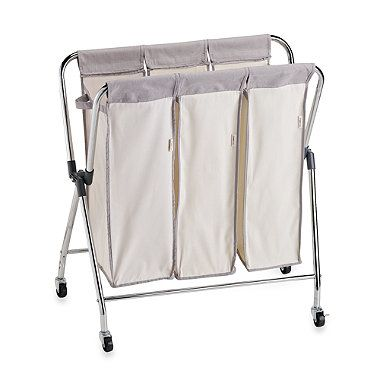 Real Simple Triple Laundry Sorter Laundry Sorter Laundry