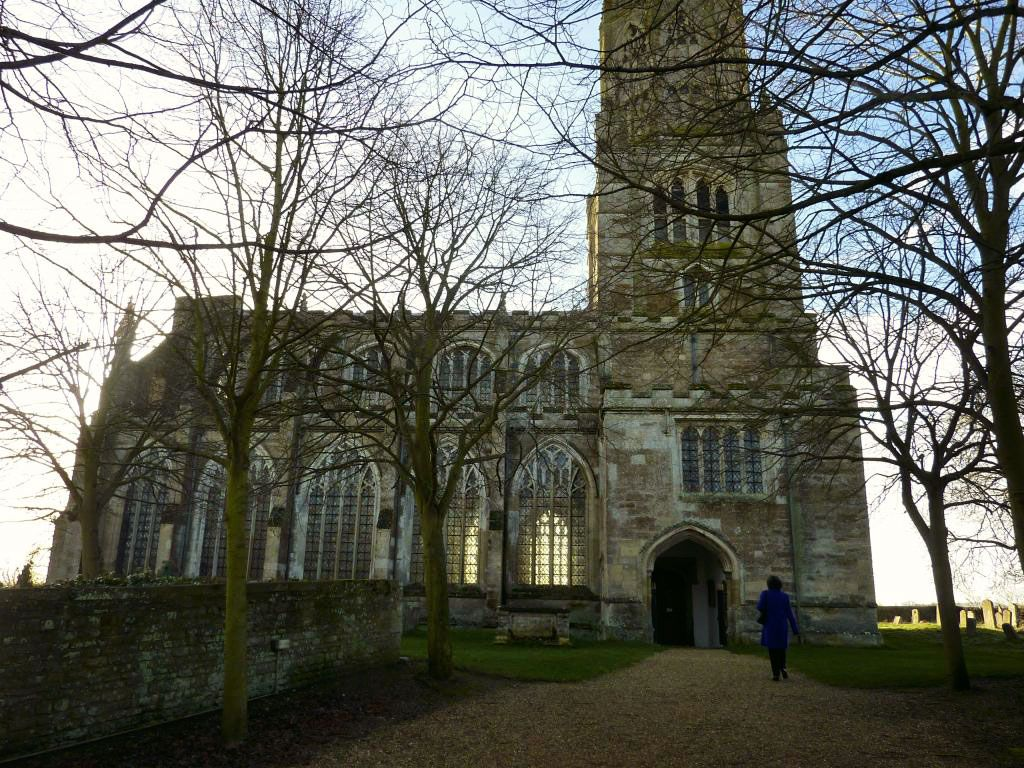 Fotheringhay Church In Winter