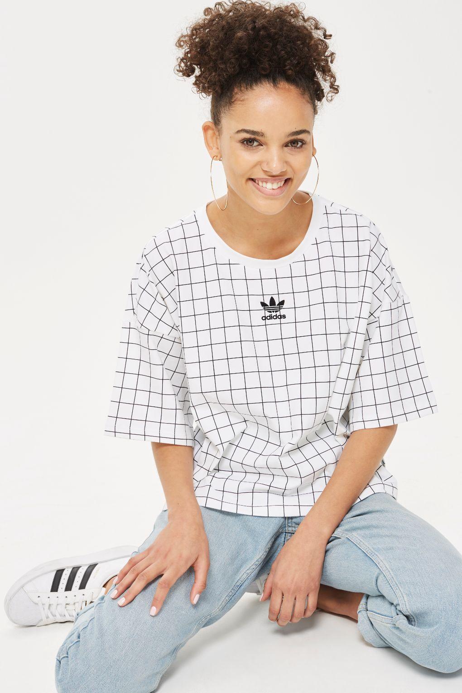82d1f6efea5478 Cropped Check T-Shirt by adidas Originals - T-Shirts - Clothing - Topshop  USA