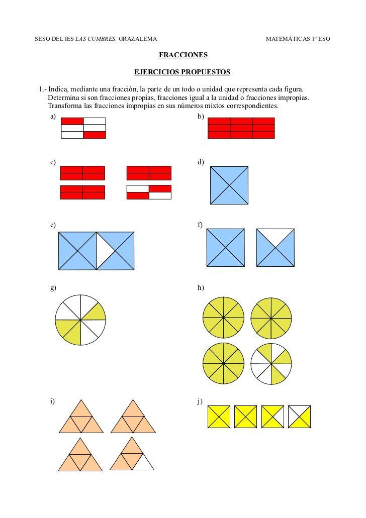 19 Ideas De Graficos De Fracciones Fracciones Matematicas Fracciones Actividades De Matematicas