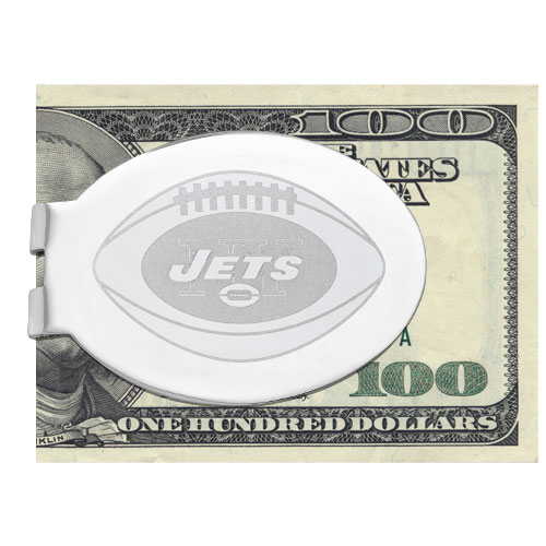 New York Jets Silver LaserEtched Money Clip New York Jets