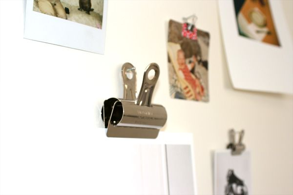 Bulldog Clips + Photos = Stylish Photo Wall