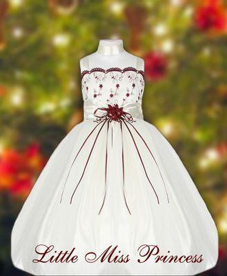 3084edec07b5 Ivory Tulle Ballerina Girls Christmas Dress | Girl Clothes | Girls ...