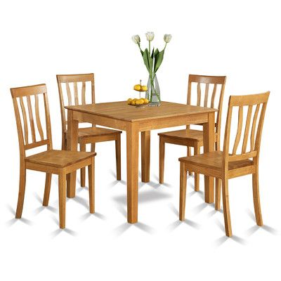 Delicieux Wooden Importers Oxford 5 Piece Dining Set