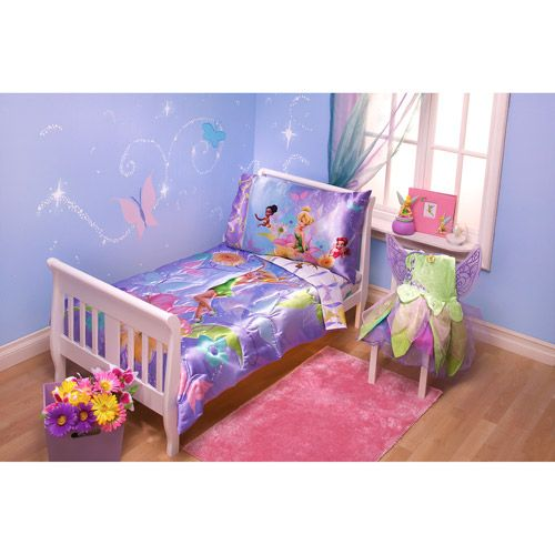 disney tinkerbell pixieland 4piece toddler bedding set bedroom