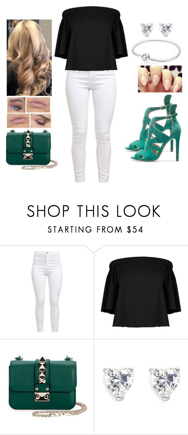 """""""Leafy Green 🍃"""" by teodoramaria98 ❤ liked on Polyvore featuring TIBI, Valentino and CZ by Kenneth Jay Lane"""