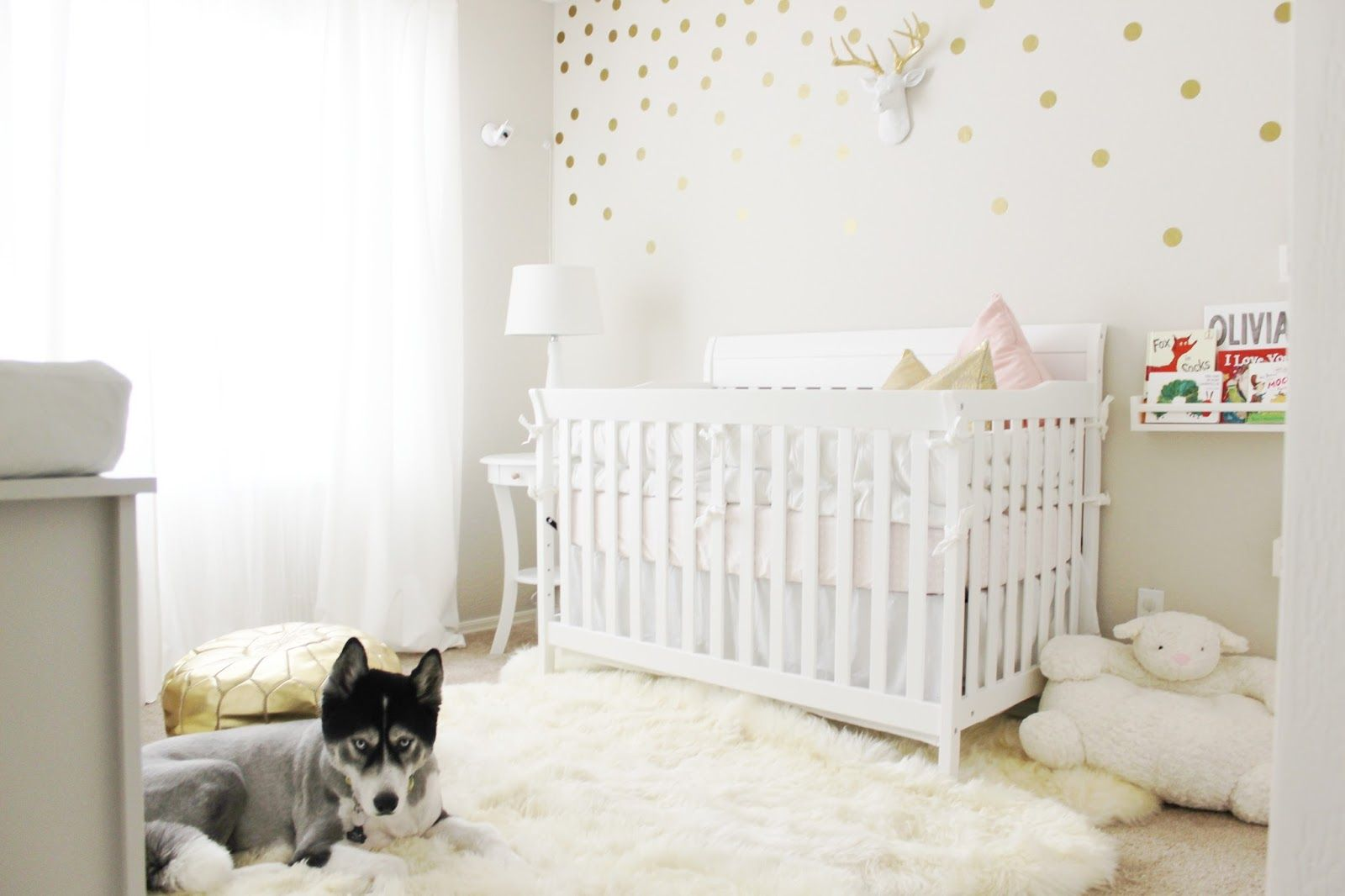 S Our Safavieh Sheepskin Rug Via Aubrey Kinch  BLOG Nursery Reveal