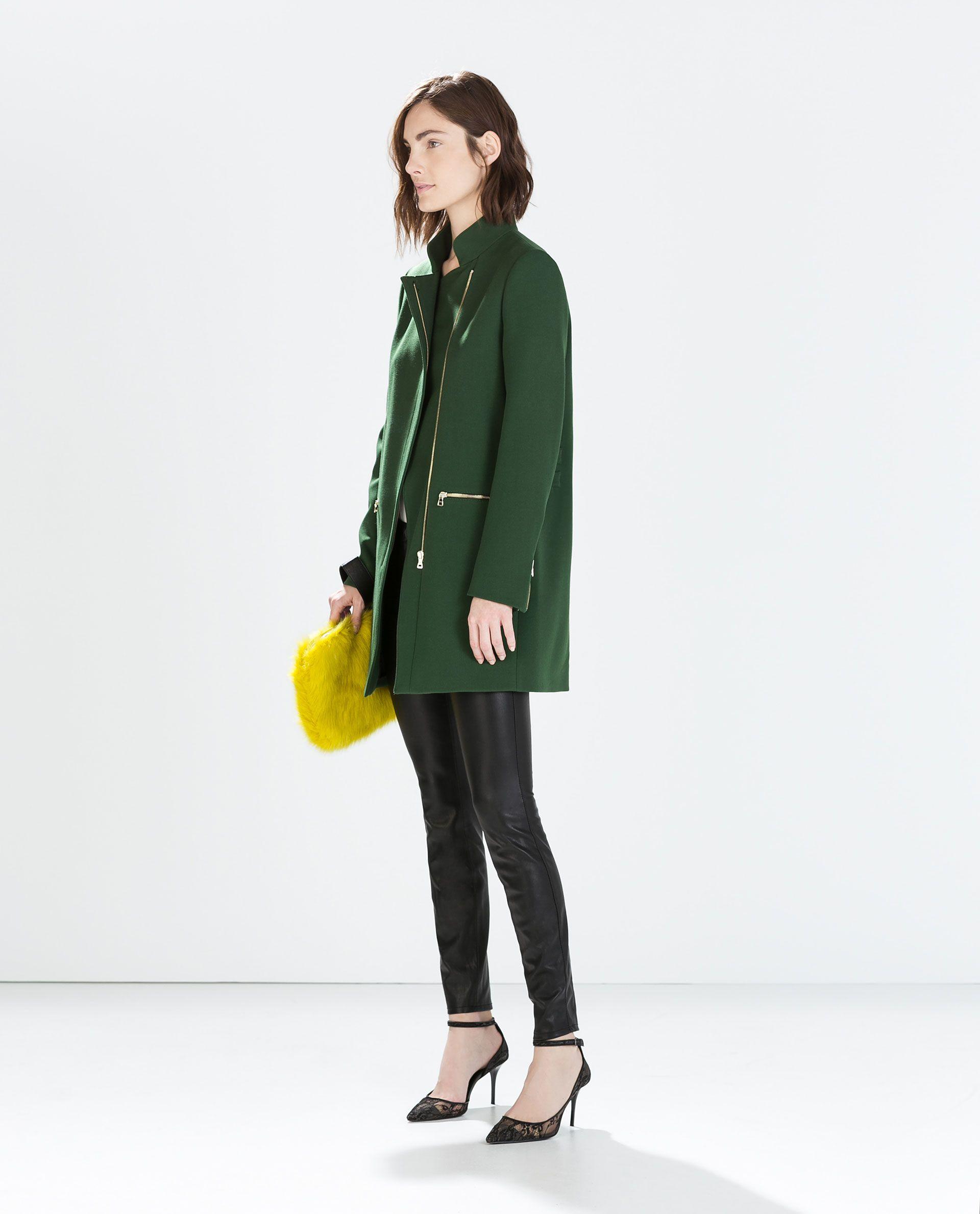 Image 1 of ZIP BUCKLE COAT from Zara   Dress Me   Pinterest   Coat ... 435cb40ae6