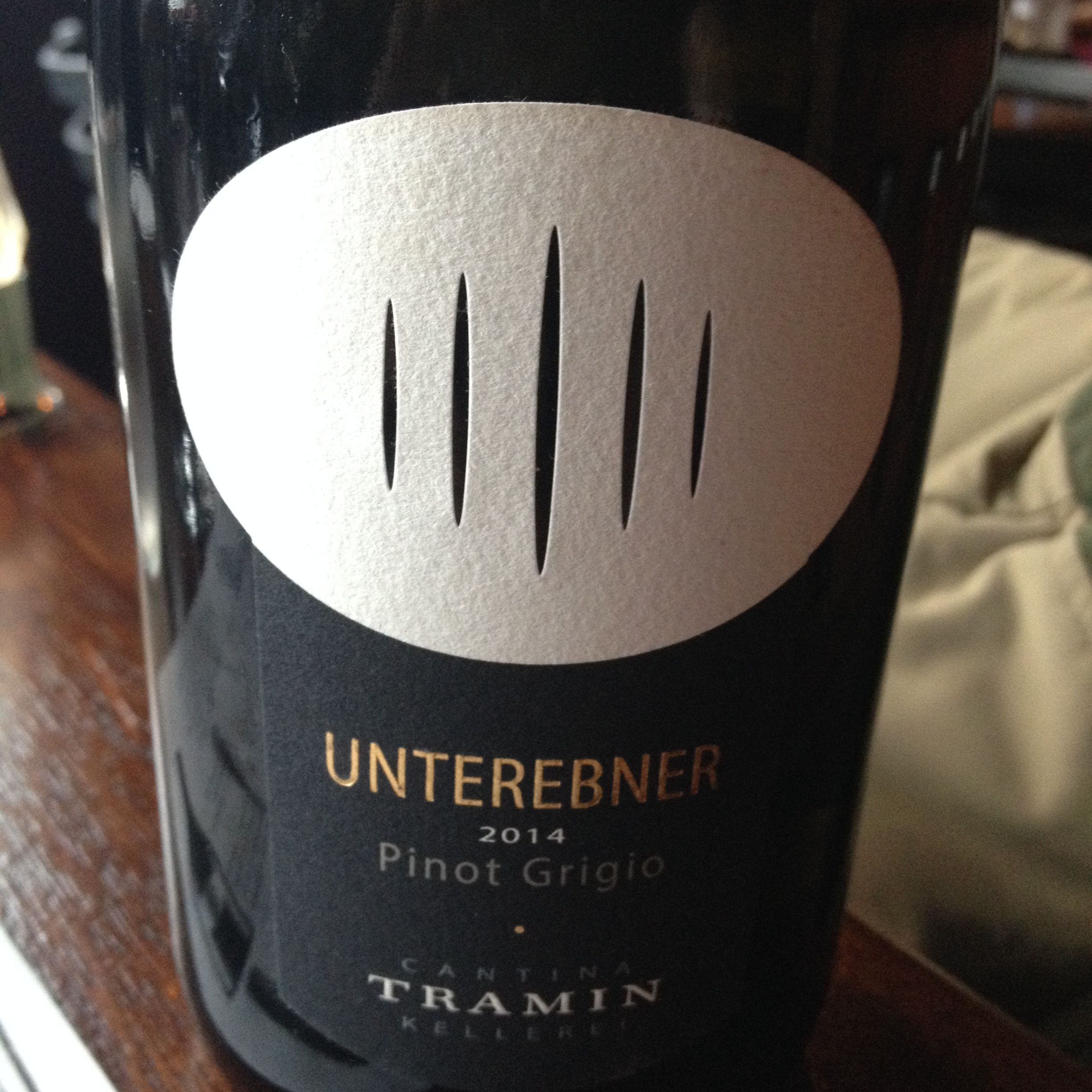 ^2014 Tramin Unterebner Pinot Grigio - Powerfully citrusy nose with a lovely, slightly creamy mouthfeel.