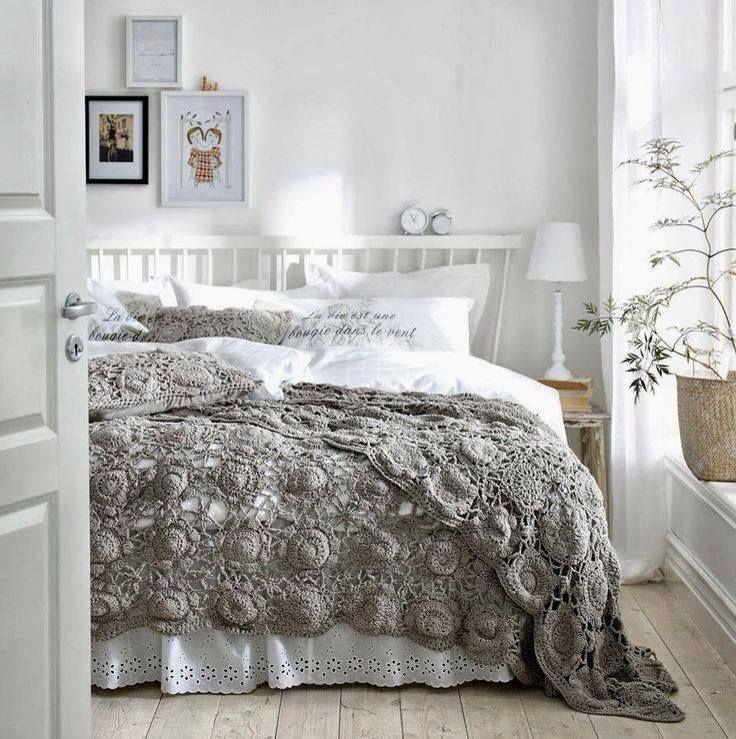 Pie de cama tejido dormitorios y vestidores pinterest - Mantas pie de cama ...
