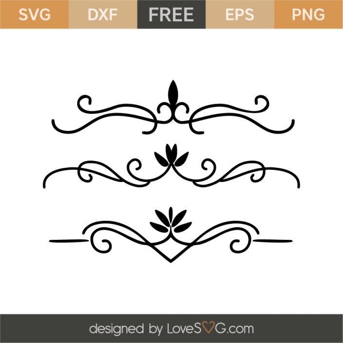 Borders Free svg, Free stencils, Svg files for cricut