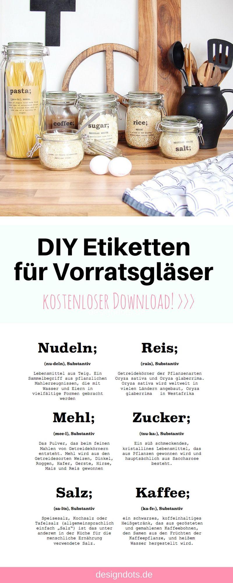 Diy Etiketten Fur Vorratsglaser Zum Ausdrucken Kuchen Diy