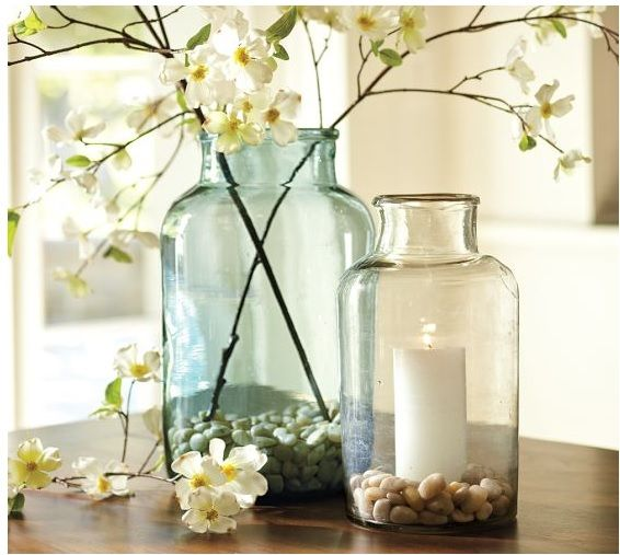 Ideas for glass jars and vases Glass jar ideas Pinterest Glass