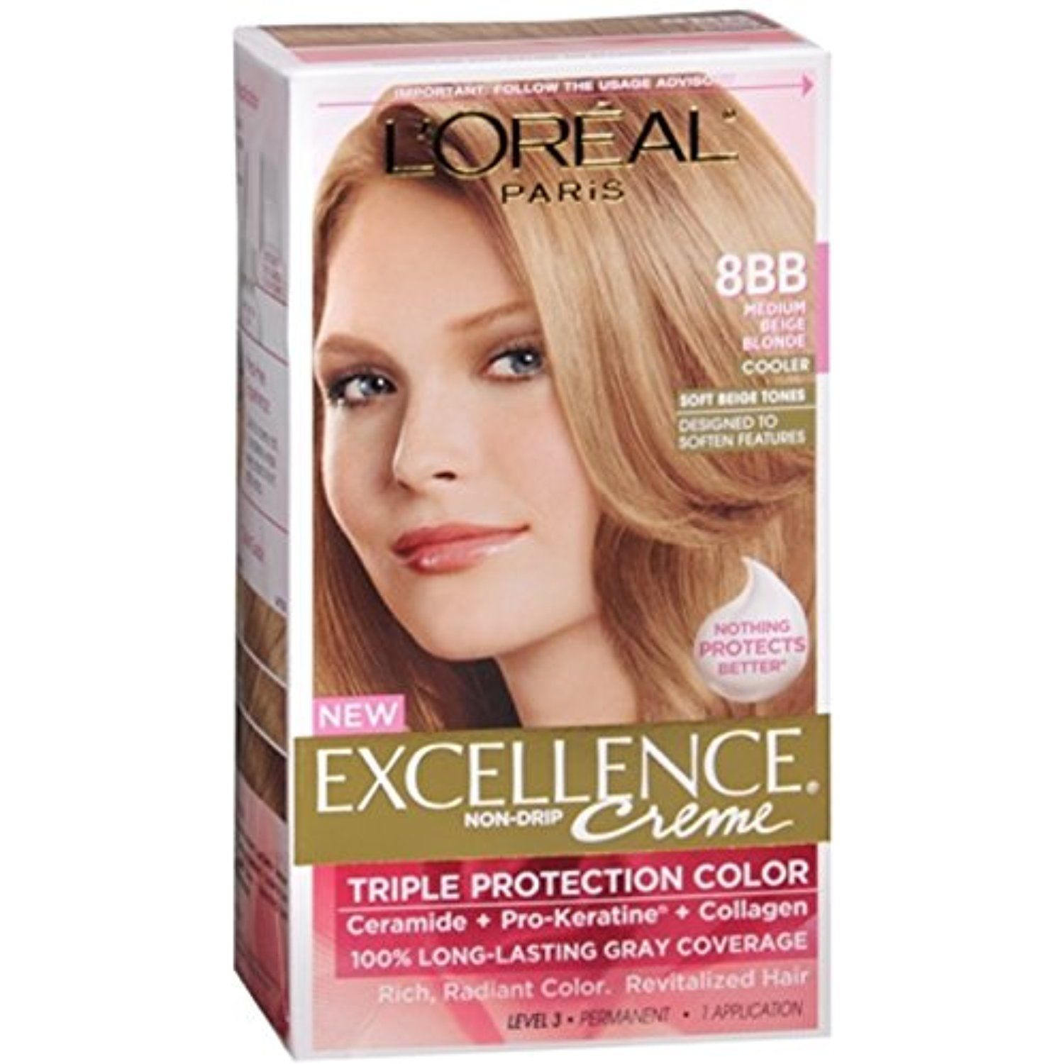 L Oreal Excellence Creme 8bb Medium Beige Blonde Cooler 1 Each