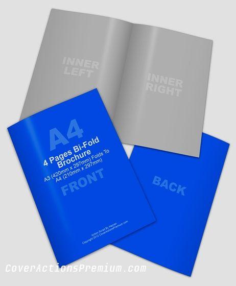 A3 Half-Fold Brochure Mock Up   Brochure / Booklet Mockups