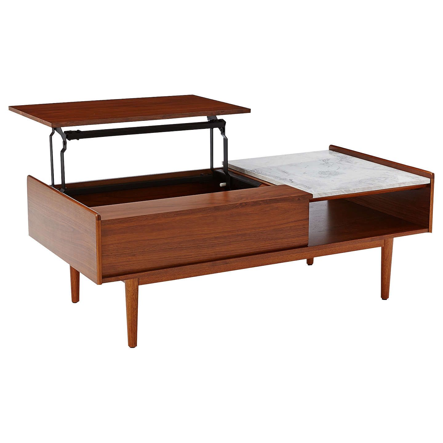 Buywest Elm Mid Century Pop Up Storage Coffee Table Online At Johnlewiscom