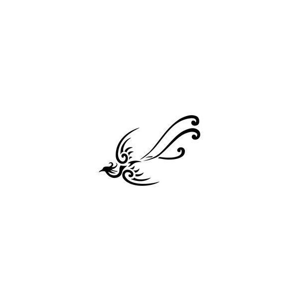 Tatuaggio di Piccola fenice, Rinascita tattoo , TattooTribes.com ❤ liked on  Polyvore featuring accessories