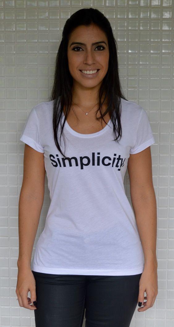SIMPLICITY   Para comprar, acesse http://www.lasbananas.com.br/ #camiseta #camisetas #tee #tshirts #moda #lasbananas