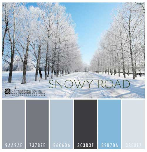Winter Colors: 9 Palettes for Web and Print Designs