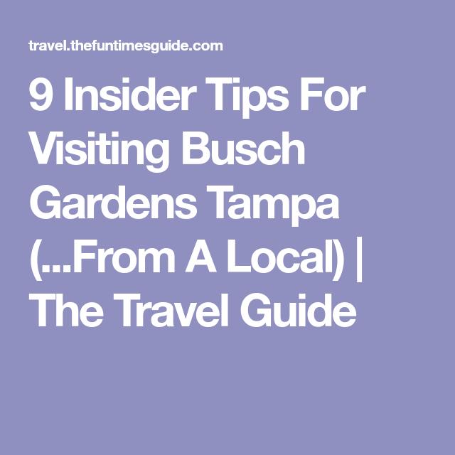 9 Insider Tips For Visiting Busch Gardens Tampa From A Local – Busch Gardens Dining Plan