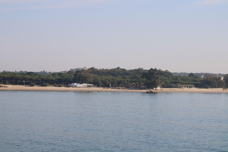 paisaje de la playa de la puntilla en El Puerto de Santa María