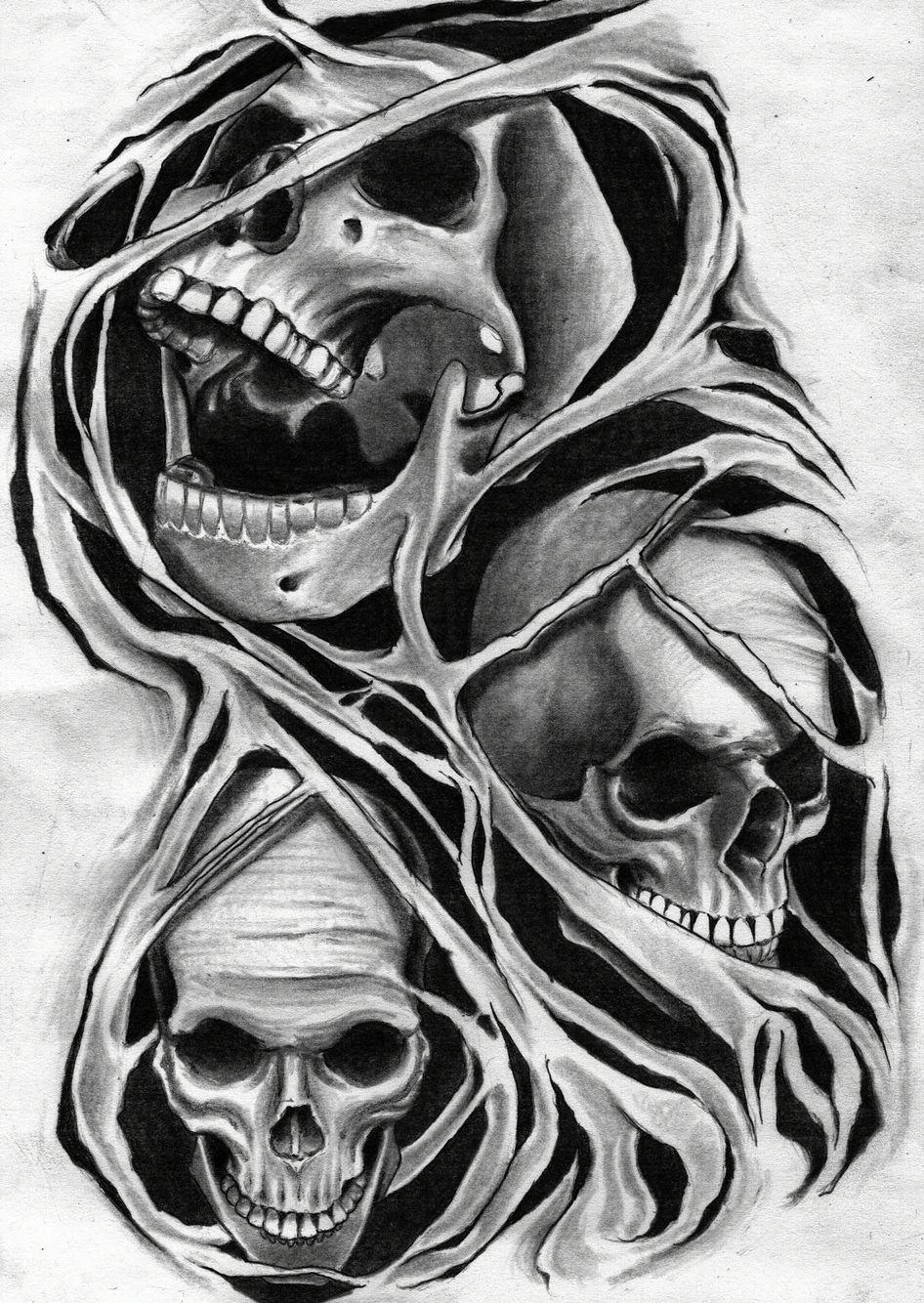 Skulls pencil drawing by me Skulls drawing, Evil skull