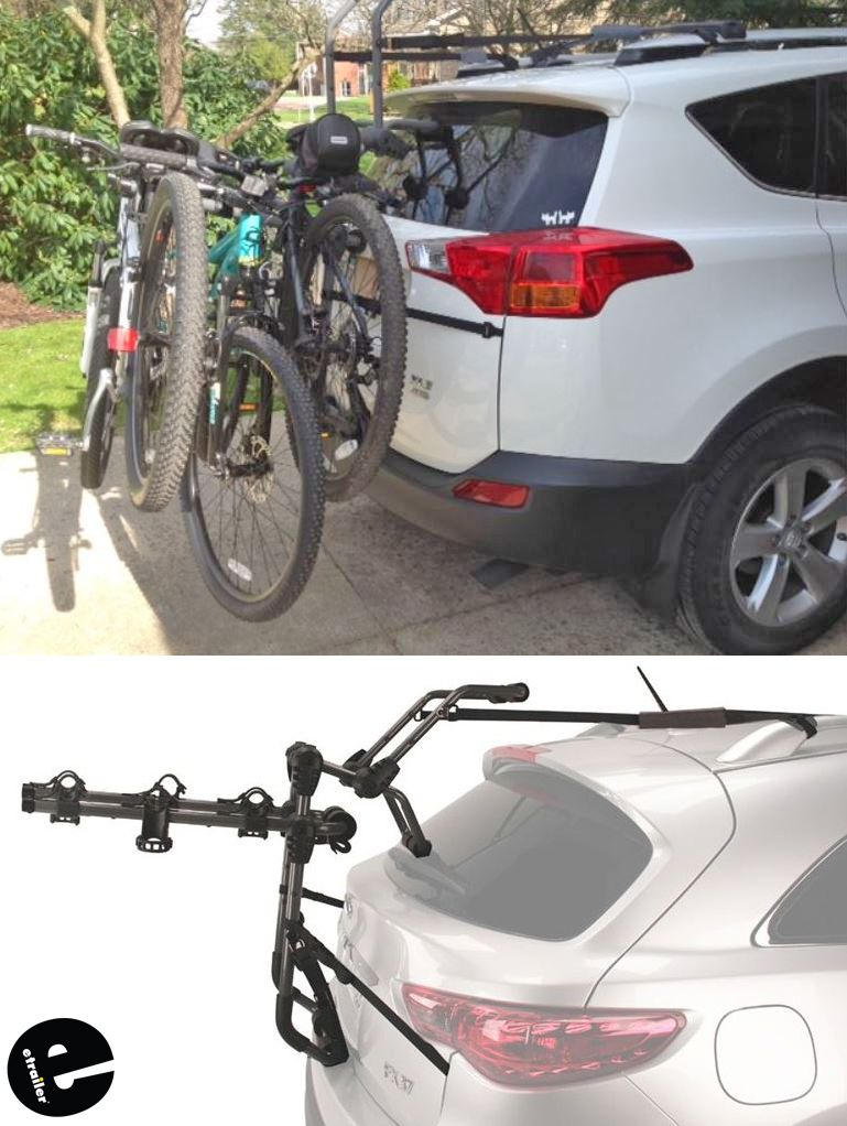 Hollywood Racks Over The Top 3 Bike Rack For Vehicles W Spoilers
