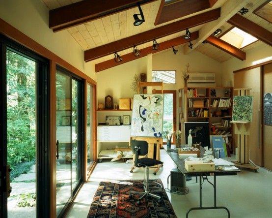 art studio lighting design. 40 Artistic Home Studio Designs. Here To Inspire You. Art Lighting Design