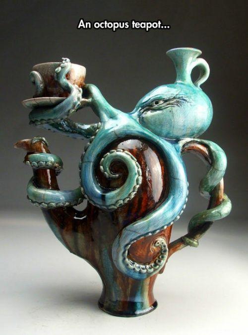 An octopus teapot.